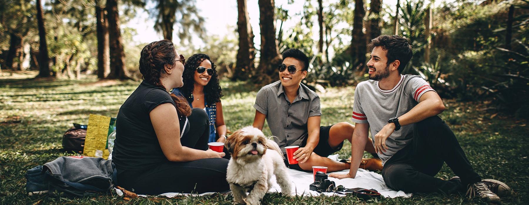 friends at a park