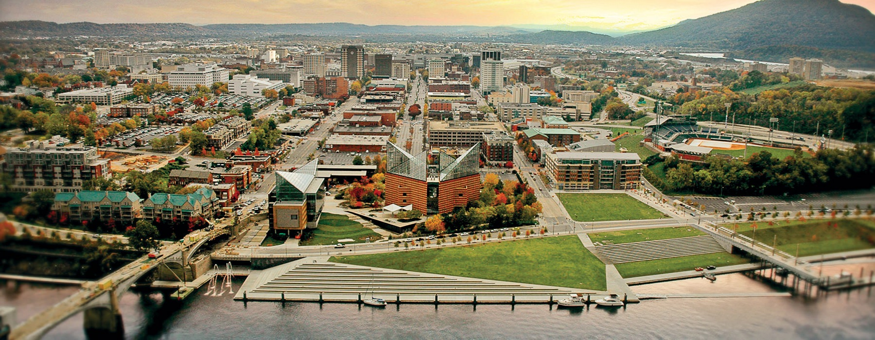 aerial view of Chattanooga